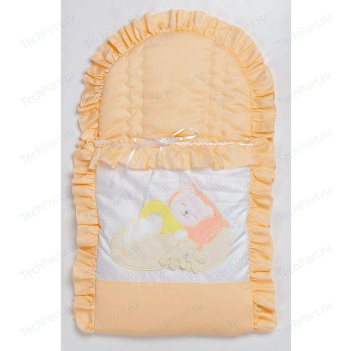 Конверт для новорожденного Сдобина Мой маленький друг (персиковый) 50.115