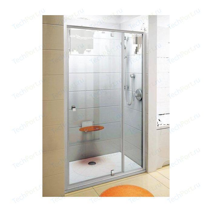 Фото - Душевая дверь Ravak Pivot PDOP2 110 прозрачная Транспарент, сатин (03GD0U00Z1) душевая дверь ravak pivot pdop2 110 сатин transparent 03gd0u00z1