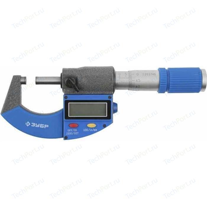 Микрометр цифровой Зубр МКЦ 25 0-25мм 0.001мм Эксперт (34482-25_z01)