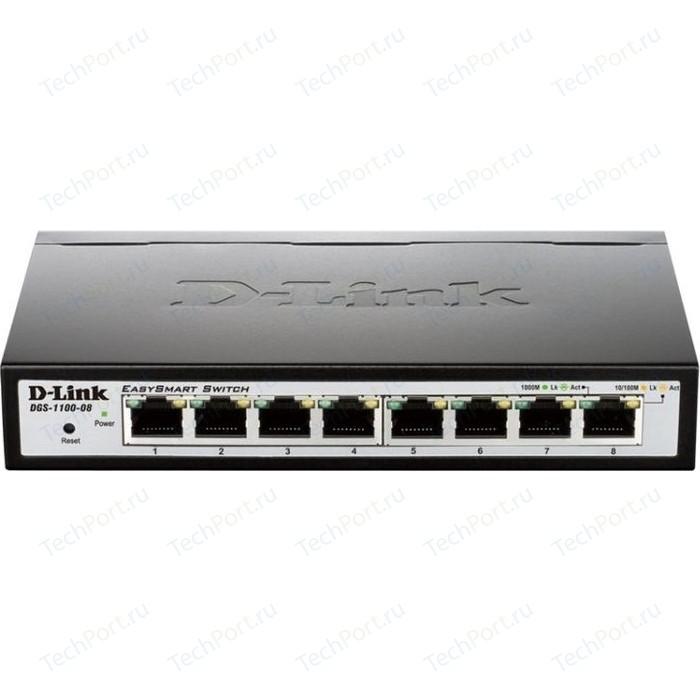 Коммутатор D-Link DGS-1100-08P коммутатор d link dgs 1100 10 me a