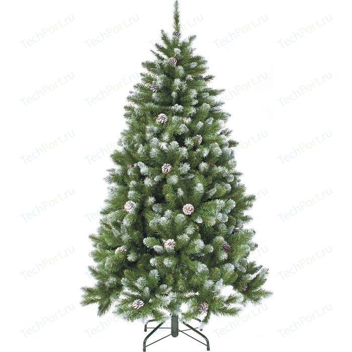 Елка искусственная Triumph Tree Императрица с шишками заснеженная 73542 (230 см)