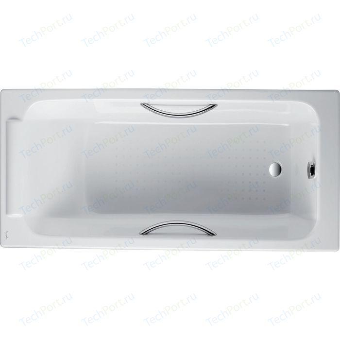 Чугунная ванна Jacob Delafon Parallel 150x70 с отверстиями для ручек (E2949-00)