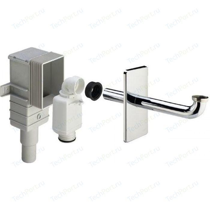 Сифон для раковины Viega 5633.1 скрытого монтажа, накидная гайка 1 1/4, хром (553753)