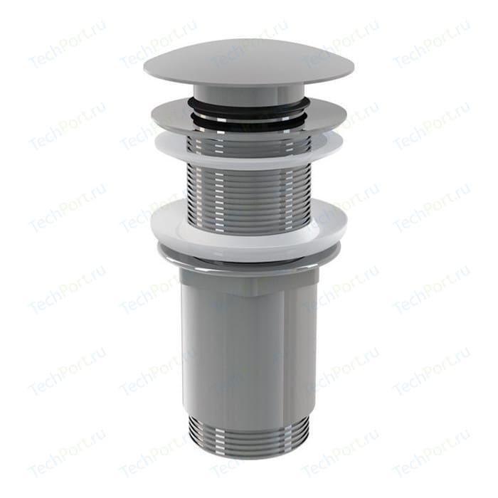 Донный клапан AlcaPlast Click-clack 5/4 цельнометаллический, с большой заглушкой (A395)