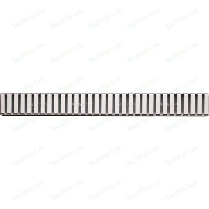 Решетка AlcaPlast Line нержавеющая сталь глянцевая (LINE-650L)
