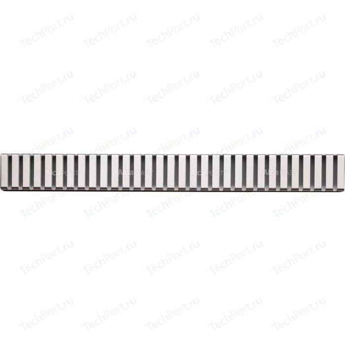 Решетка AlcaPlast Line нержавеющая сталь глянцевая (LINE-850L)