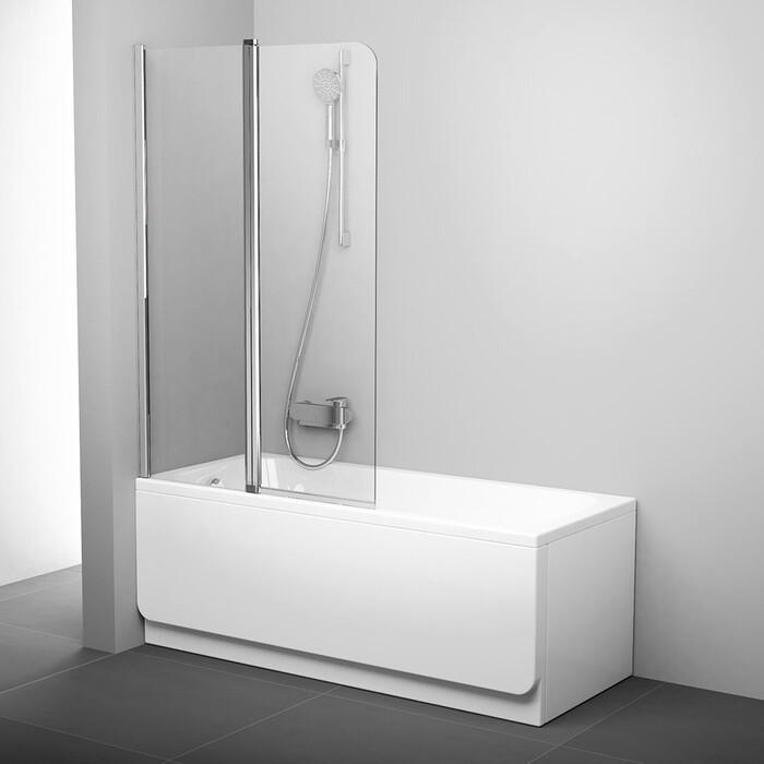 Шторка на ванну Ravak Chrome CVS2-100 L прозрачная, хром, левая (7QLA0C00Z1)