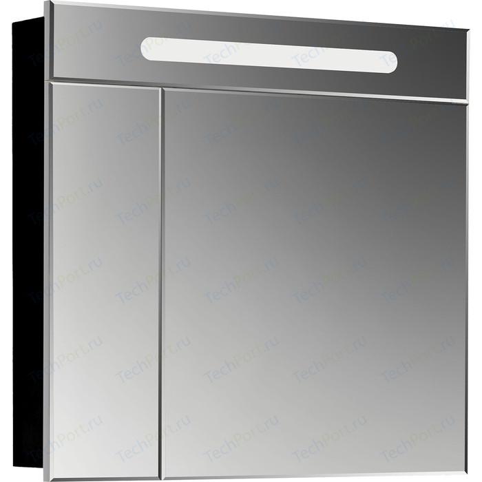 Зеркальный шкаф Roca Victoria Nord Black Edition 80 черный глянец (ZRU9000100)