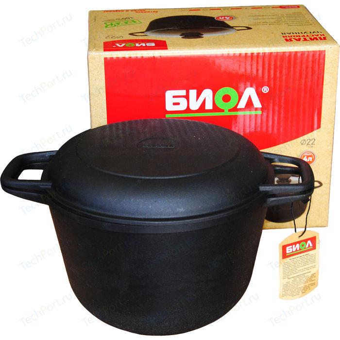 Кастрюля с крышкой-сковородой Биол 6 л 0206