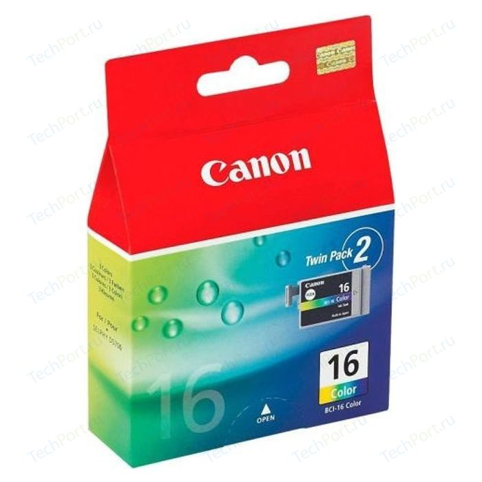 Картридж Canon BCI-16 color двойная упаковка (9818A002) чернильница can bci 6y