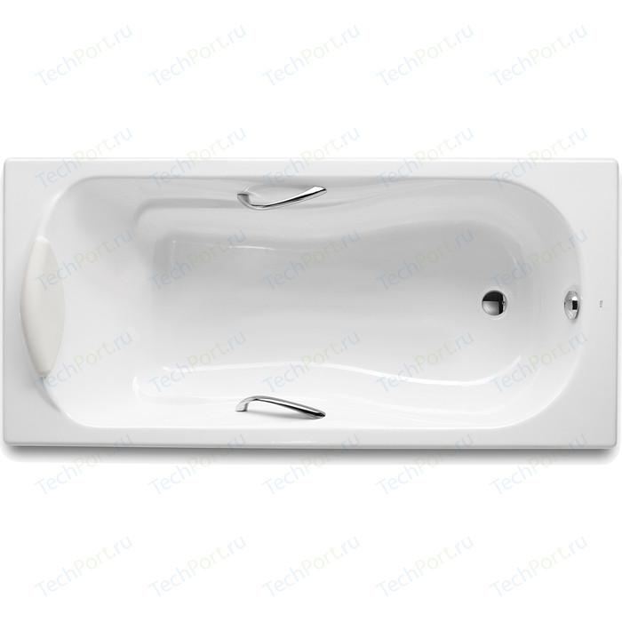 Чугунная ванна Roca Haiti 140x75 Antislip, с отверстиями для ручек (2331G0000)