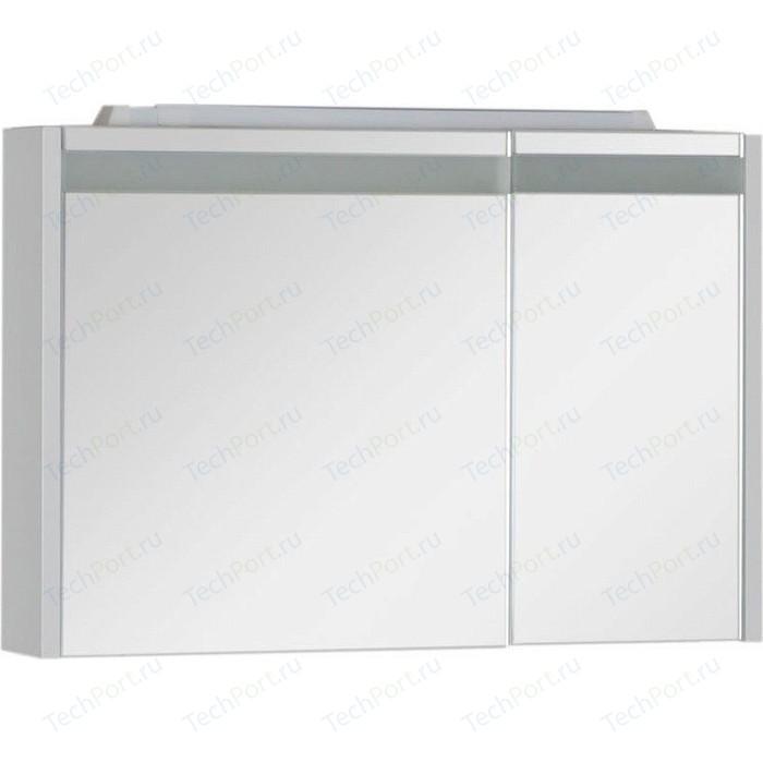 Зеркальный шкаф Aquanet Лайн 90 L белый (165582)