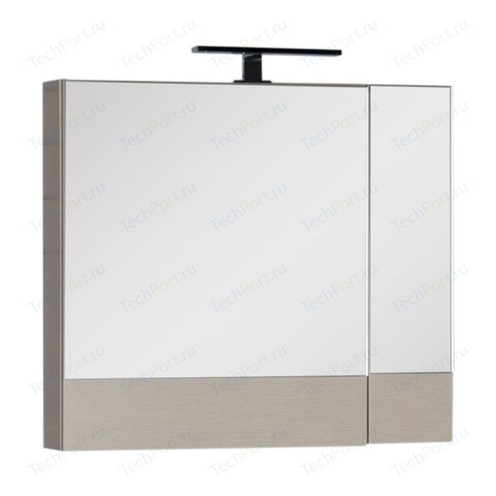 Зеркальный шкаф Aquanet Нота 75 светлый дуб (158857)