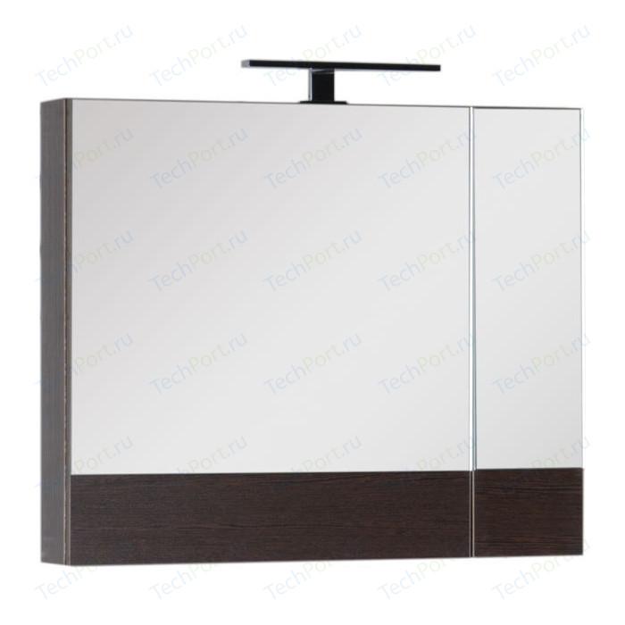 Зеркальный шкаф Aquanet Нота 75 венге (159109)