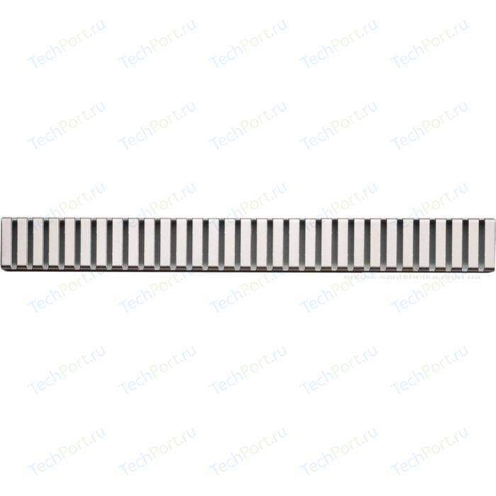 Решетка AlcaPlast Line нержавеющая сталь глянцевая (LINE-1050L)