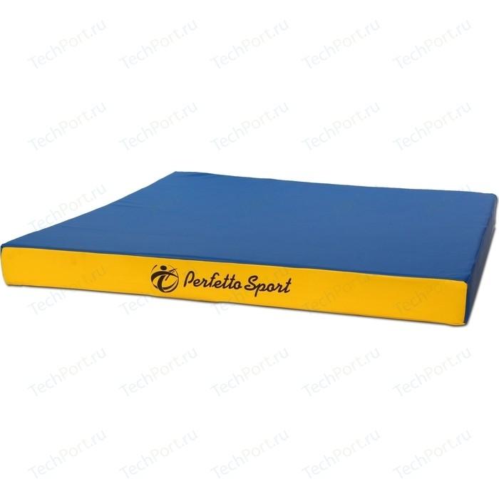Мат PERFETTO SPORT № 2 (100 х 100 10) сине-жёлтый