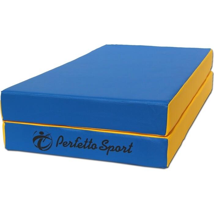 Мат PERFETTO SPORT № 3 (100х100х10см) сине-жёлтый складной