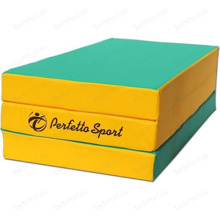Мат PERFETTO SPORT № 4 (100х150х10см) зелёно-жёлтый складной