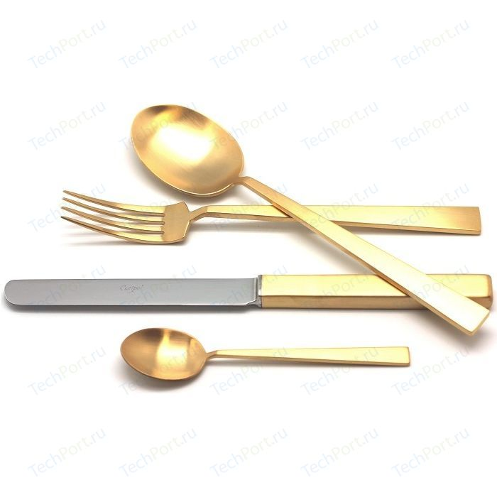 Набор столовых приборов Cutipol Bauhaus gold из 24-х предметов 9322