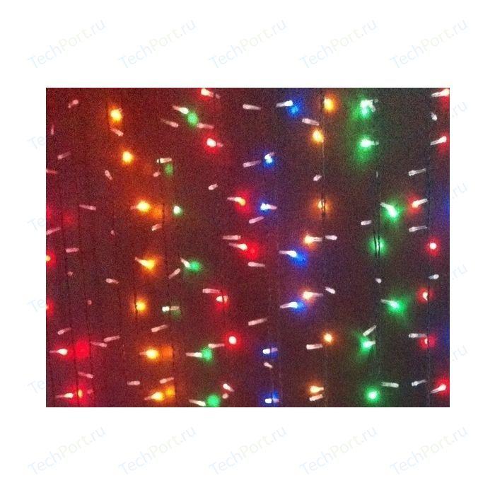 Фото - Light Светодиодный занавес разноцветный 2x2 чёрный провод light светодиодный занавес красный 2x2 прозрачный провод мерц