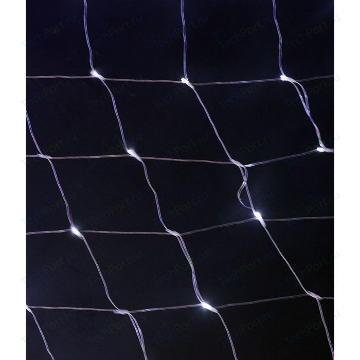 Light Светодиодная сеть цветная 2x2 прозрачный провод