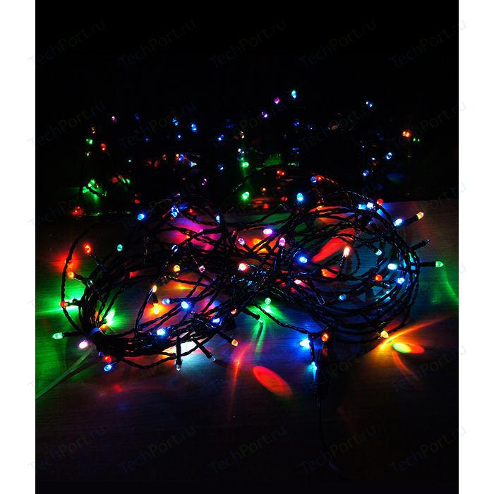 Гирлянда Light Светодиодная нить RGB 10 м, 24V чёрный провод гирлянда light светодиодная нить 10 м белая 220v чёрный провод мерцание 100 процентов
