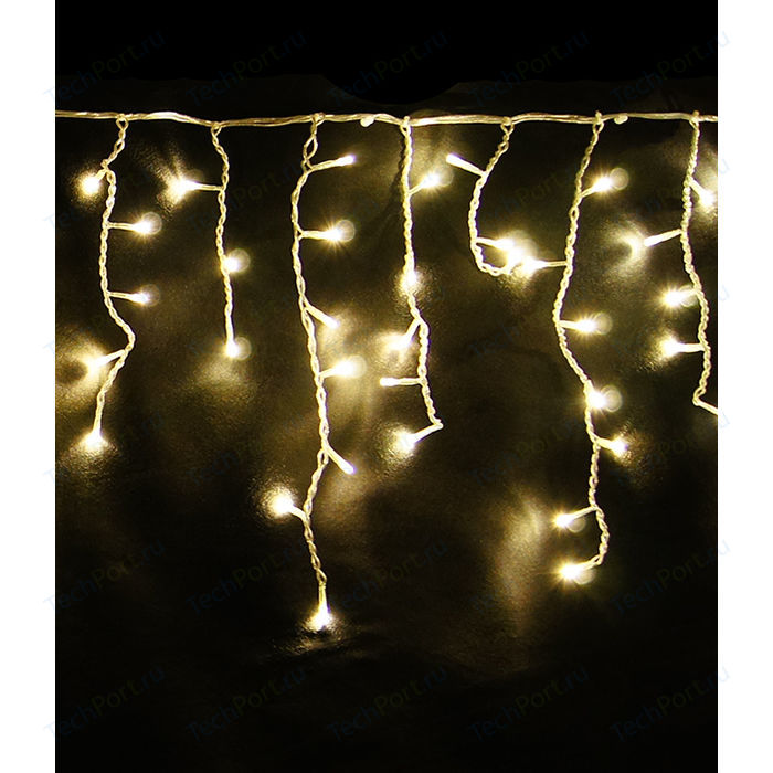 Light Светодиодная бахрома желтая 3,2x0,9 белый провод