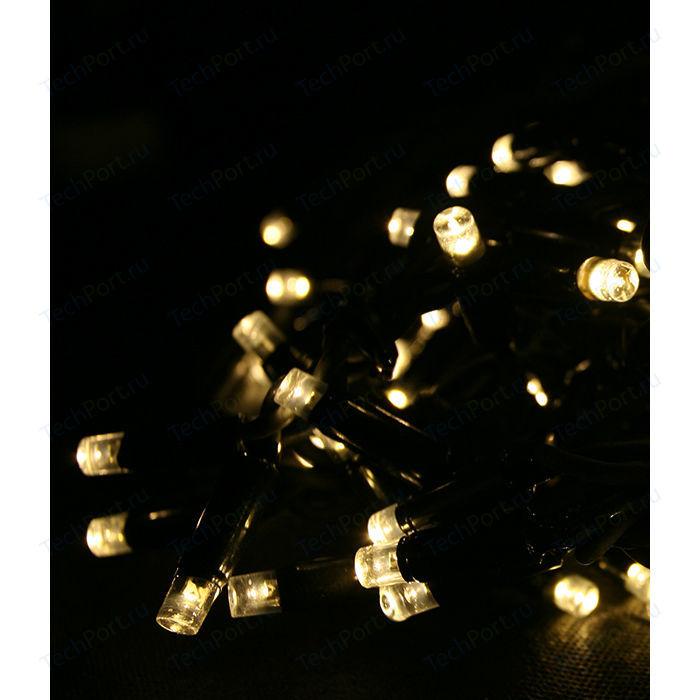 Гирлянда Light Светодиодная нить тепл. белая 10 м чёрный провод гирлянда light светодиодная нить 10 м белая 220v чёрный провод мерцание 100 процентов