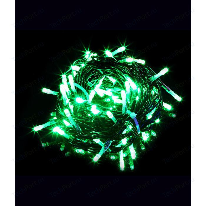 Гирлянда Light Светодиодная нить зеленая 10 м чёрный провод (мерцание 20 процентов) гирлянда light светодиодная нить 10 м белая 220v чёрный провод мерцание 100 процентов