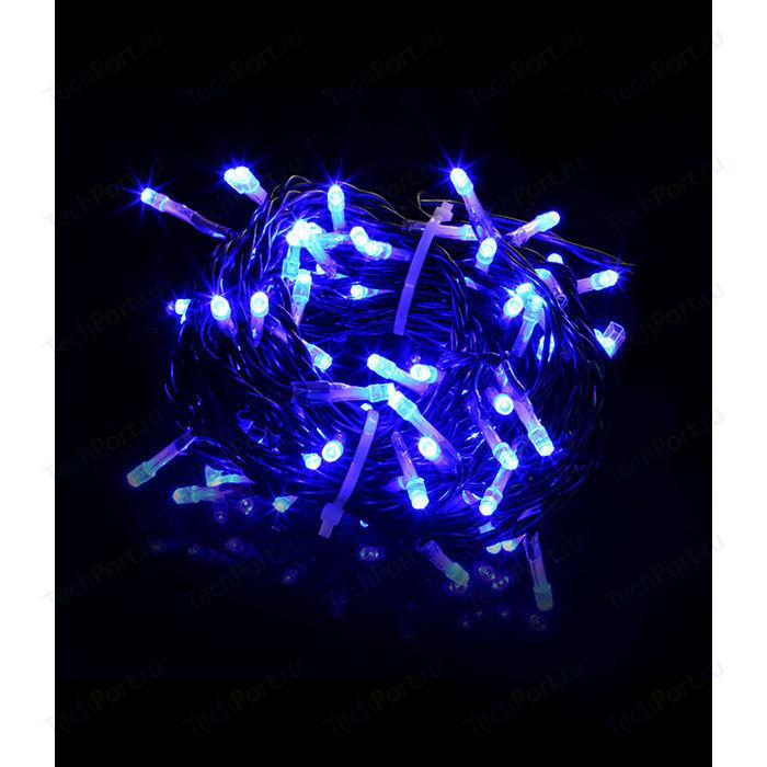 Гирлянда Light Светодиодная нить 10 м синяя 220V чёрный провод (мерцание 100 процентов) гирлянда light светодиодная нить 10 м белая 220v чёрный провод мерцание 100 процентов