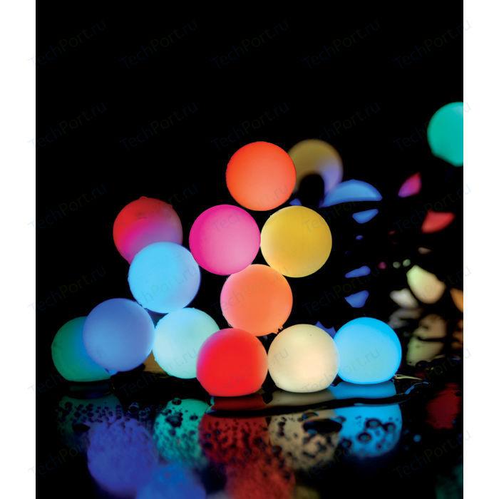 Гирлянда светодиодная Light Fiesta big ball RGB 75 led, 220V черный каучуковый провод