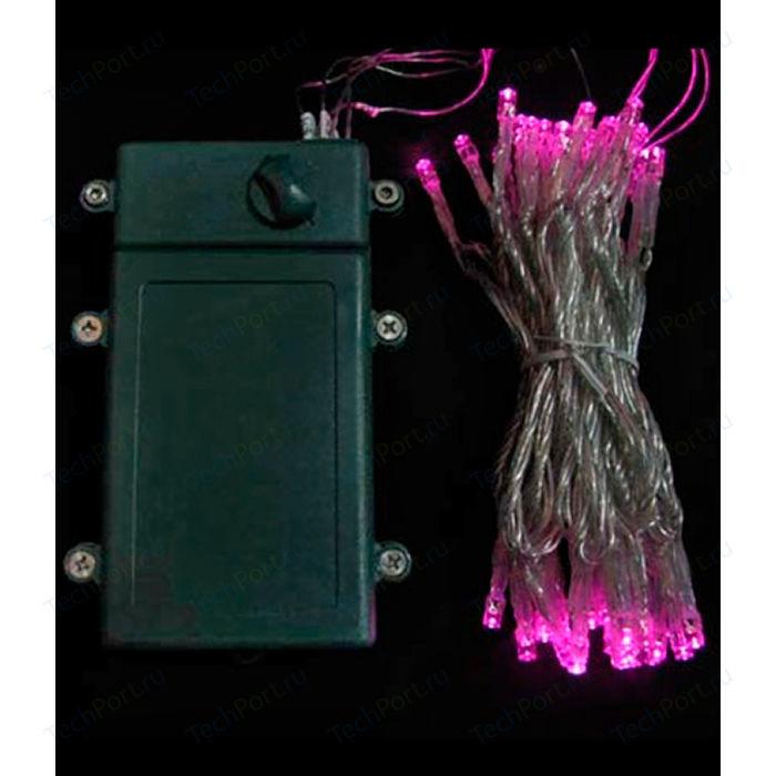 Гирлянда светодиодная Light Нить на батарейках 5 м розовая 4,5V прозрачный провод