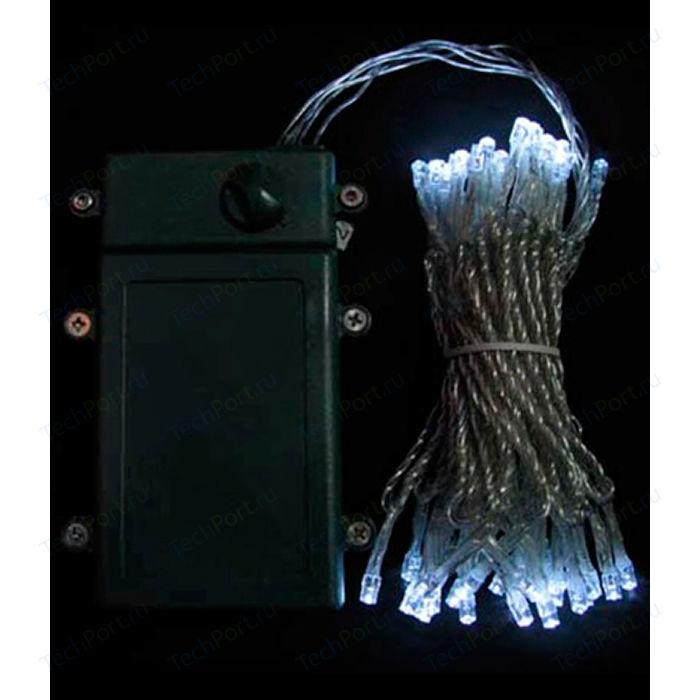Фото - Гирлянда светодиодная Light Нить на батарейках 10 м белая 4,5V прозрачный провод light светодиодная сеть белая 2x2 прозрачный провод