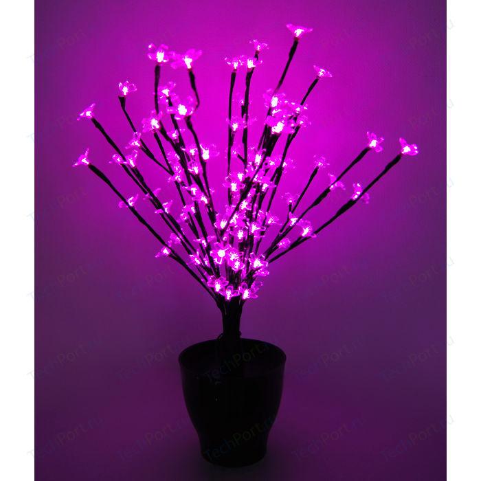 Светодиодная композиция Light Цветок в горшке цветы сакуры розовый 60 см, 94 led чёрный провод