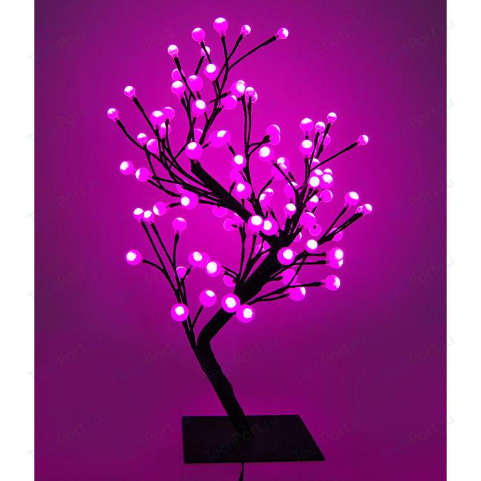Светодиодная композиция Light Бонсай шарики розовый 60 см, 96 led.