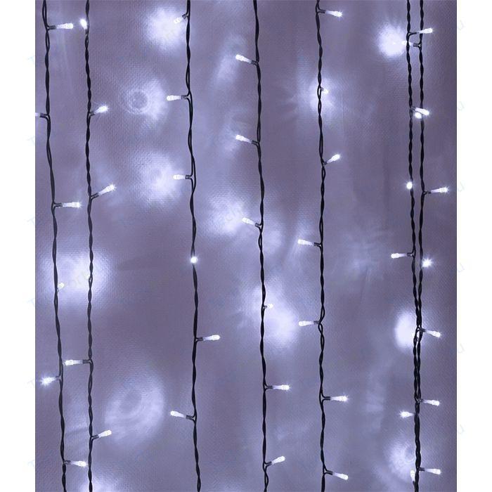 Light Светодиодный занавес белый 2x3 чёрный PVC провод