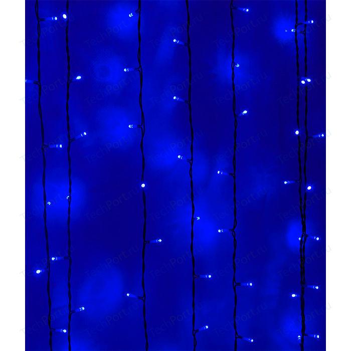 Light Светодиодный занавес синий 2x3 чёрный PVC провод