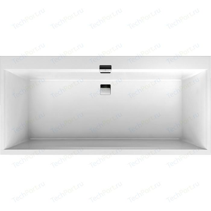 Ванна квариловая Villeroy Boch SQUARO EDGE 170х75 см белая с ножками и слив-переливом хром (UBQ170SQE2DV-01)