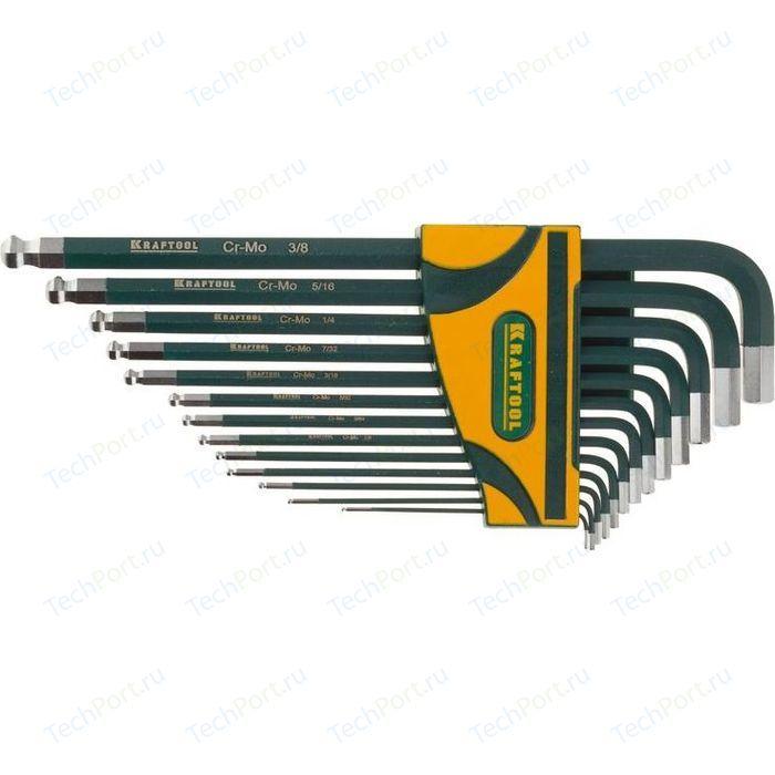Набор шестигранных ключей Kraftool HEX0.05-3/8 13шт Industrie (27444-H13)