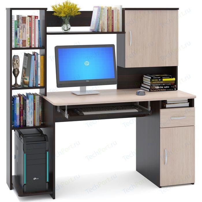 Стол компьютерный СОКОЛ КСТ-11.1 венге/дуб беленый