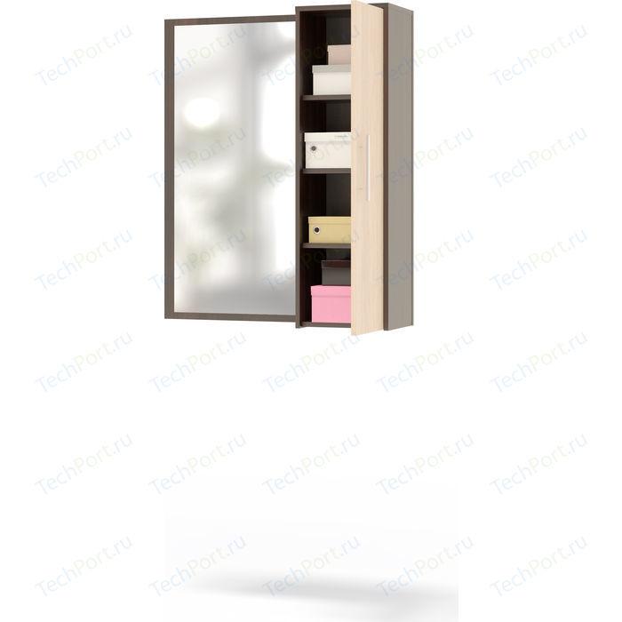 Полка с зеркалом СОКОЛ ПЗ-4 венге/беленый дуб