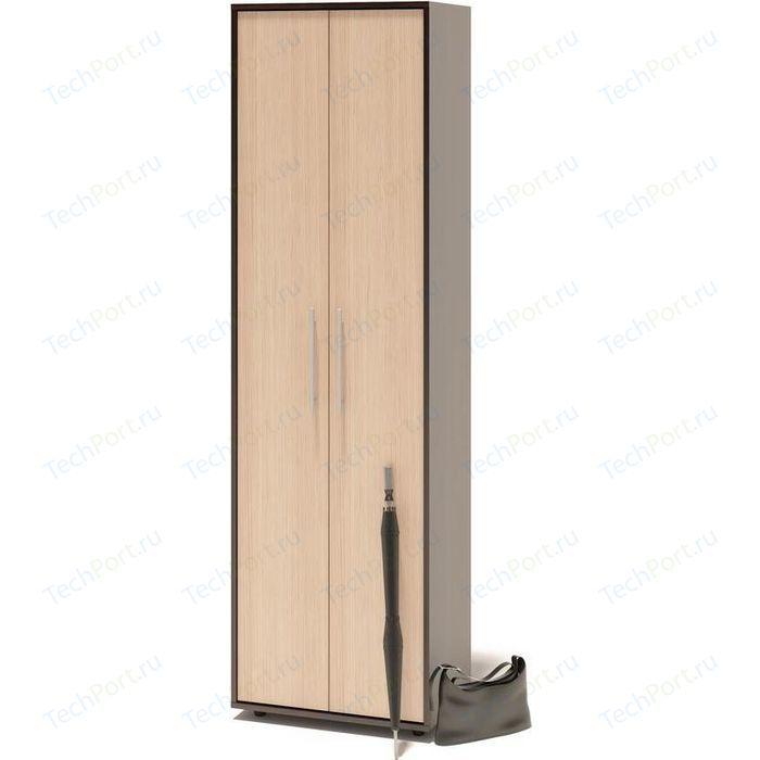 Шкаф для одежды СОКОЛ ШО-1 венге/беленый дуб
