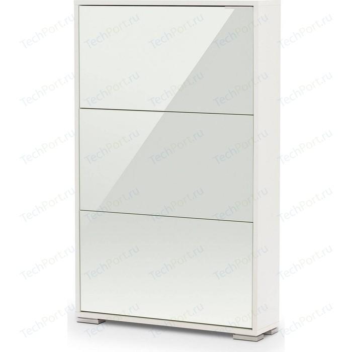 Обувница Вентал Арт Viva-3 стекло белый/белый глянец