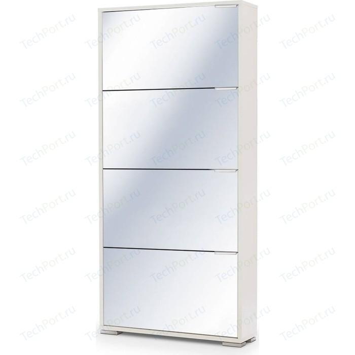 Обувница Вентал Арт Viva-4 зеркало белый