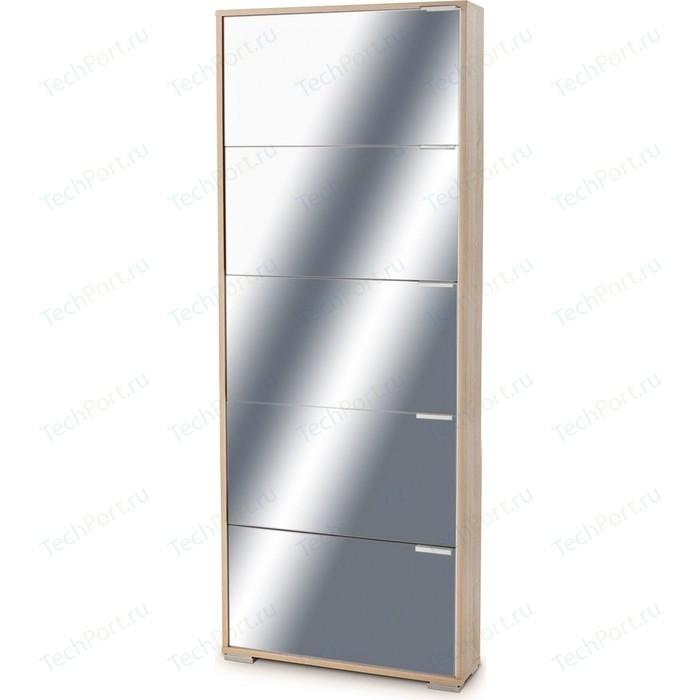 Обувница Вентал Арт Viva-5 зеркало дуб сонома