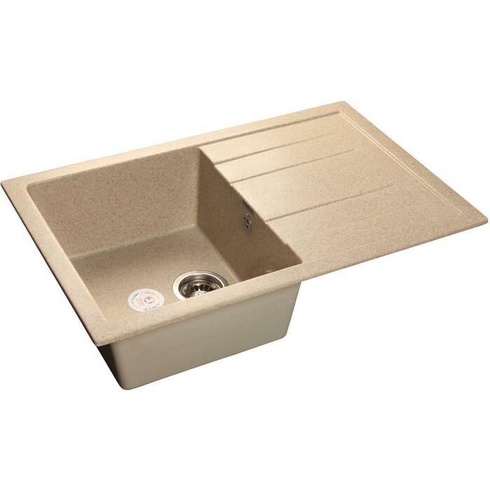 Кухонная мойка GranFest Quadro GF-Q780L песочная