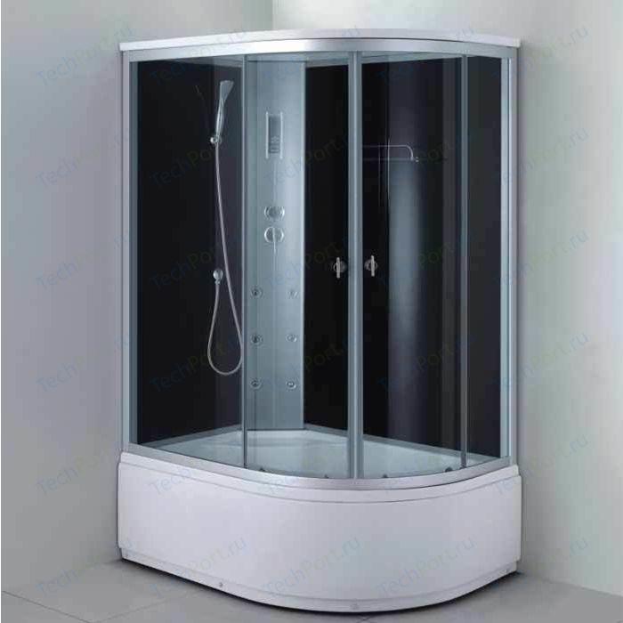 Душевая кабина Aqualux MODO 130х85х215 левая, тонированное стекло, заднее стекло темное (AQ-4073GFL-Bl)