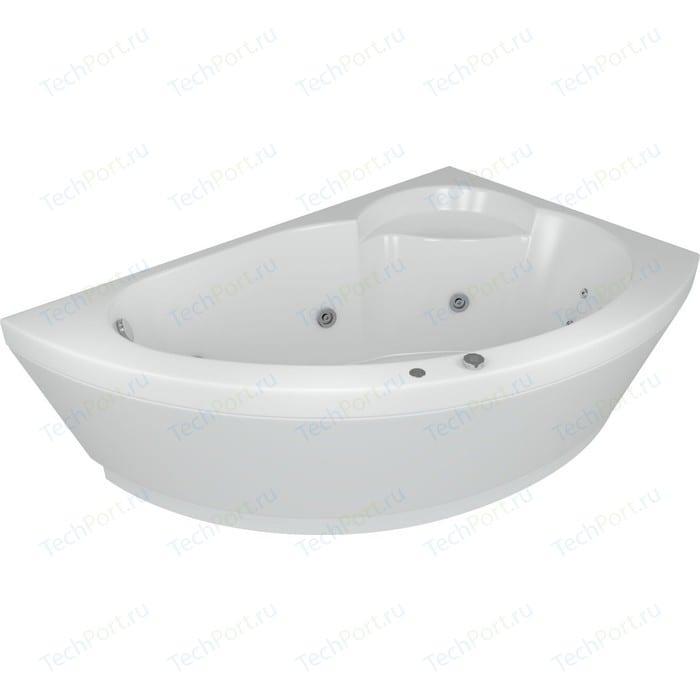 Акриловая ванна Aquatek Аякс 170х110 правая, фронтальная панель, каркас, слив-перелив (AYK170-0000089)