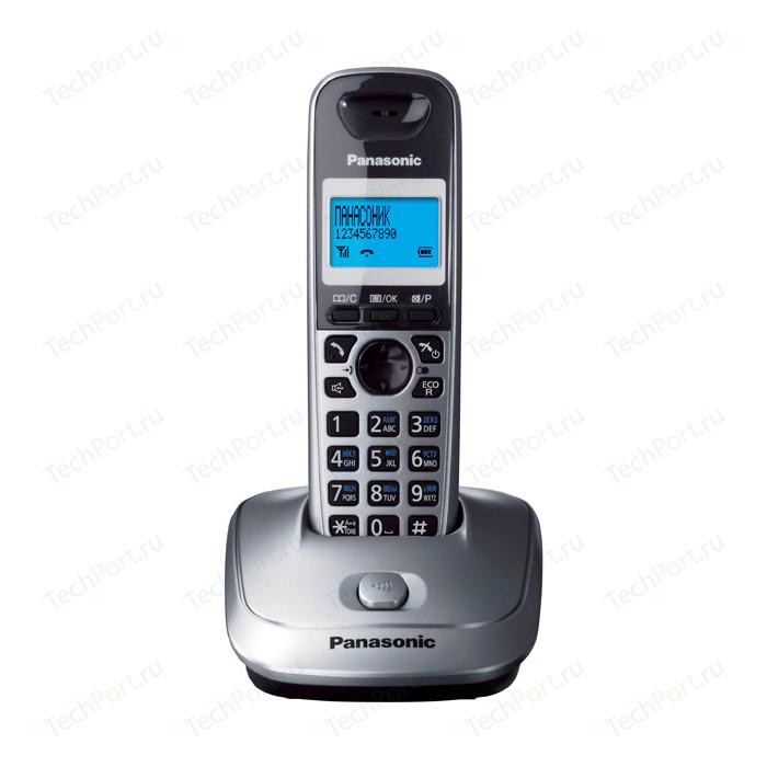 Радиотелефон Panasonic KX-TG2511RUM радиотелефон dect panasonic kx tgh212rub дополнительная трубка kx tgha20 черный