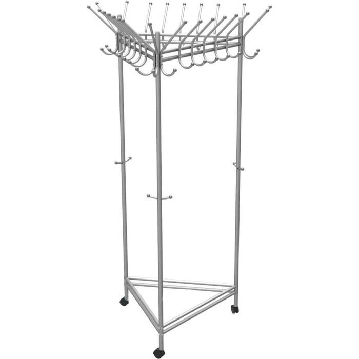 Вешалка гардеробная на колесах Мебелик Пико 21 металлик